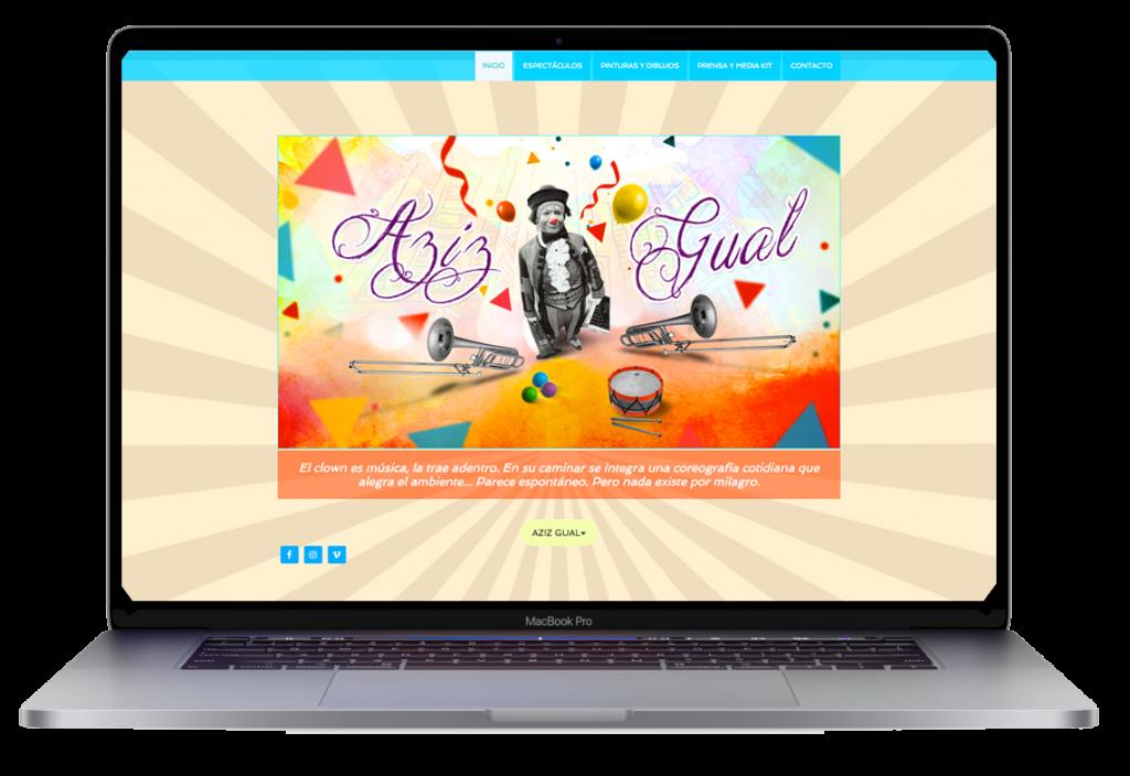 Aziz Gual. Sitio Web. R3Y Digital Creative Art Director