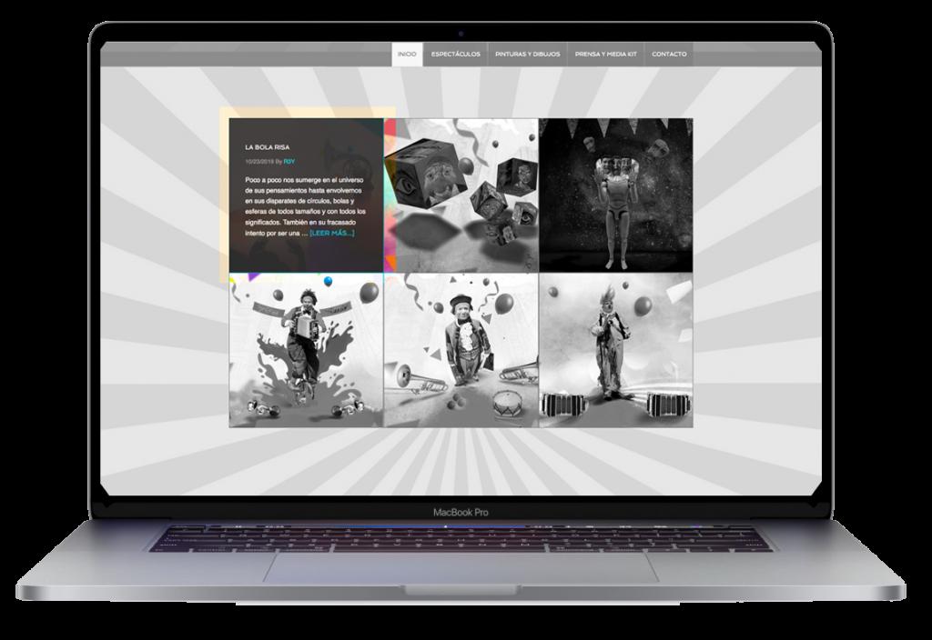 Sitio desarrollado para Aziz GUal. R3Y director de arte digital.